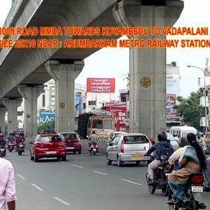 Adinn-outdoor-billboard-100 Ft towards koyambedu to vadapalani, Chennai