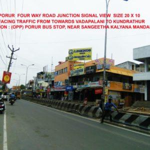 Adinn-outdoor-billboard-Porur 4 way Road Junction Signal Vadapalani towards Kundrathur, Chennai
